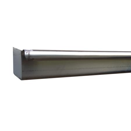 Zinken bakgoot met vlakke kopschot zonder kraal links