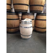 Houten regenton kastanje 110 liter deksel handvat